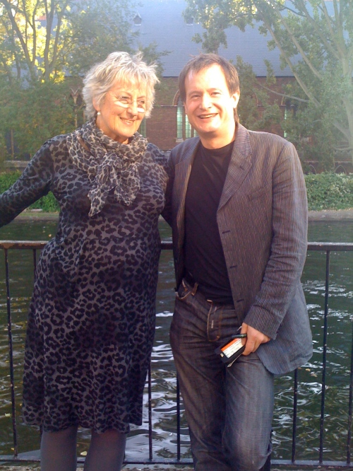 Germaine Greer & me in a lighter moment