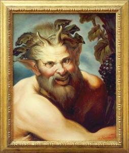 bachusthe-god-of-the-wine-oil-on-canvas-50-x-40cmitaly-2003