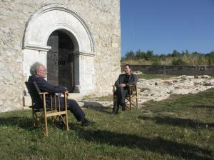 Eduardo & Bruce discuss the meaning of life outside a church