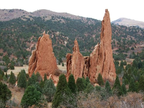 Pointy rocks at Garden of Gods - mind your bum! (photo Ryan Schwartz)