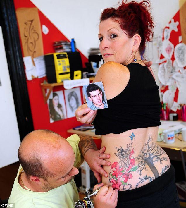Dead Son Tattooed into Mum