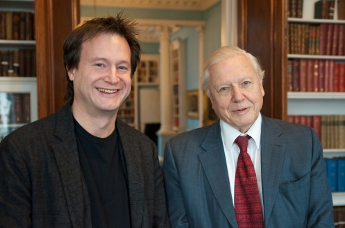 Me and the living legend, David Attenborough